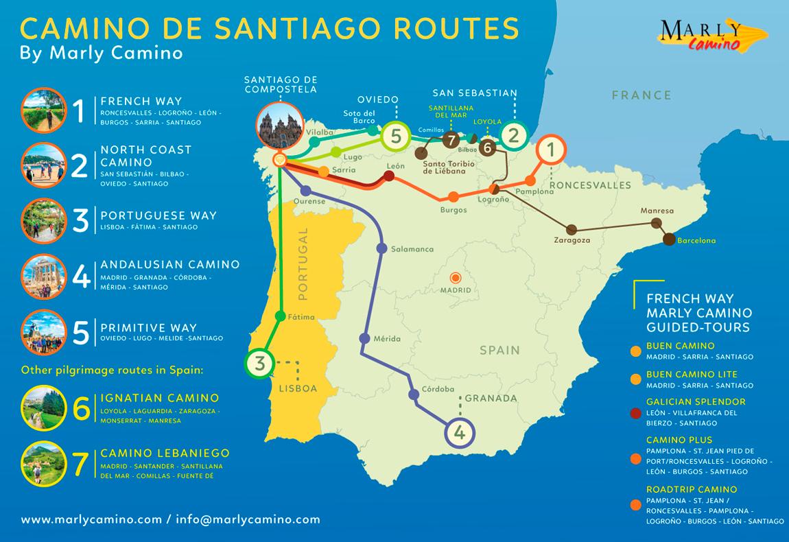 Camino De Santiago Compostela Map on